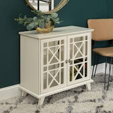 antique white kitchen storage cabinet wood accent buffet sideboard serving storage cabinet with doors entryway kitchen dining console living room 32 inch antique white walmart