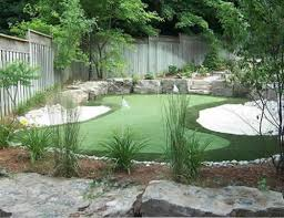 Small Backyard Putting Green Backyard Putting Green Guests Can Get In Their Golf Practice