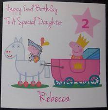 peppa pig birthday card ebay