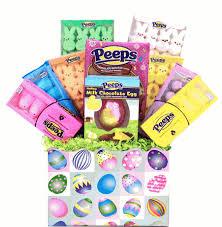 peeps easter basket easter marshmallow peep candy gift basket