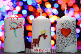 Homemade Christmas Gifts For Toddlers - gifts kids can make decorated candles