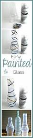 diy painted jars and bottles frosted glass spray painting and
