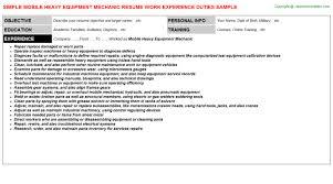 mobile heavy equipment mechanic job title docs