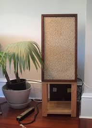 klh home theater system homemade solid oak speaker stands holding vintage klh model 6