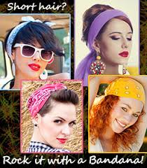 how to wear a bandana with short hair and simple bandana hairstyles for short hair