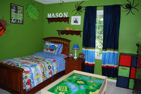 Childrens Bedroom Wall Shelves Baby Nursery Boy Bedroom Theme With Bed Green Teak Painted Bed