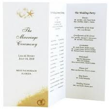 folded wedding program template graphic archives indira design