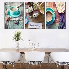 modulare k che 3 panel kaffeetassen stillleben moderne wandbilder küche wandkunst