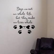dog wall art dog paw print wall decals dog wall stickers personalised paw print
