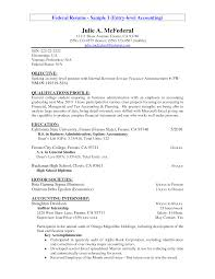 best ideas of sample entry level accounting resume no experience