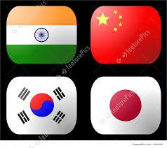 Korea Flag Icon Illustration Of China India Japan Korea Flag