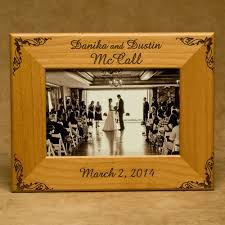 personalized wedding photo frame personalized wedding wood picture frames for newlyweds