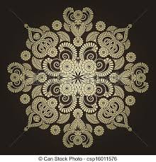 radial geometric ornament vectors illustration search clipart