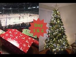 hockey game u0026 christmas tree decorating vlogmas day 1 u0026 2 youtube
