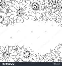 Design Patterns For Invitation Cards Zentangle Doodle Floral Invitation Card Template Stock Vector