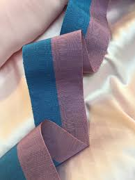 taffeta ribbon vintage two toned crinkled lifted taffeta ribbon blue and purple