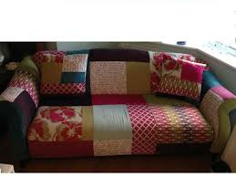 Chesterfield Patchwork Sofa by Dfs Shout Patchwork Sofa U0026 Footstool In Peasedown St John