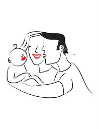 mom dad and baby clipart 24