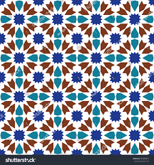 seamless pattern moroccan style mosaic tile islamic stock vector
