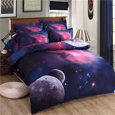 themed duvet cover 3d galaxy bedding set universe outer space themed