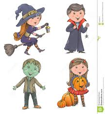 halloween kids cartoons halloween kids stock vector image 45303316