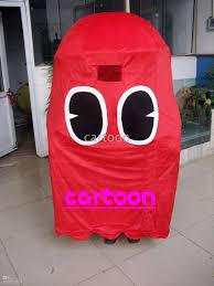 halloween mascot costumes cheap pac man ghost mascot costume size free s h fifties costumes