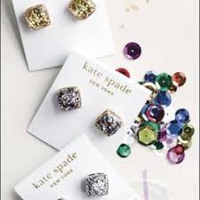 glitter stud earrings 23 kate spade jewelry kate spade multicolor glitter stud