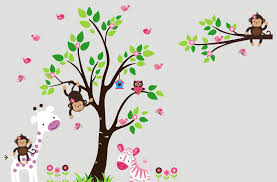 jungle theme wall decals baby nursery ideas