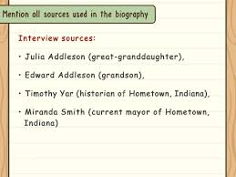 an example of chronological order how to write a biography with examples wikihow