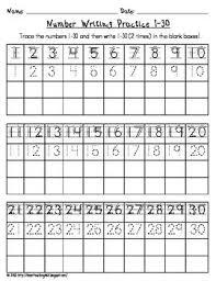 numbers 1 30 worksheet worksheets