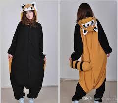 Raccoon Halloween Costumes Raccoon Kigurumi Pajamas Animal Suits Cosplay Halloween