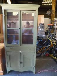 rustic glass kitchen cabinets vintage primitive pine kitchen cupboard cabinet with original glass doors
