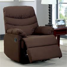 home decorators collection clive dark brown microfiber recliner cm