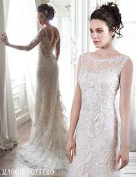 wedding dresses maggie sottero friday favorite illusion lace sleeved wedding dress verina