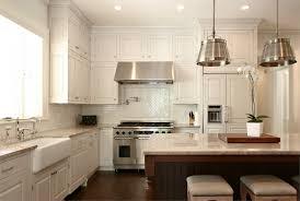 Kitchen Subway Tile Backsplash Designs Kitchen Sleek White Interior Idea For Kitchen With Industrial