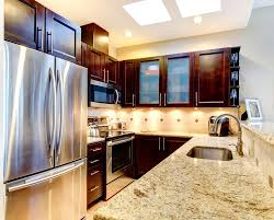 Awesome Kitchen Design Kitchen Outstanding Dark Kitchen Cabinets With Light Granite For