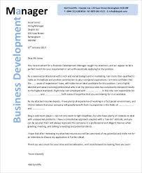sample business development manager cover letter mba cover letter