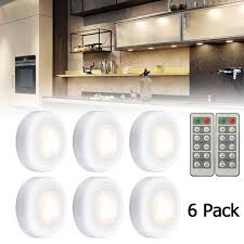 what is the best led cabinet lighting 6pcs wireless led puck lights closet cabinet lighting kit remote dimmable