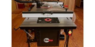 table saw router table sawstop in line router table attachment for table saws