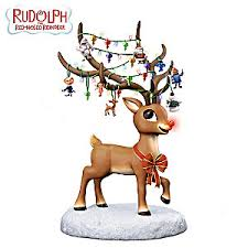 rudolph the nosed reindeer illuminating figurine
