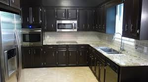 kitchen ideas black cabinets cherry cabinet with white backsplash ideas for adorable