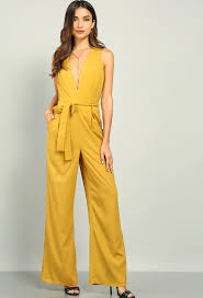 plunging jumpsuit sash tie plunging jumpsuit shop dresses at papaya clothing