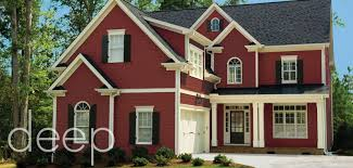 popular red house paint with exterior color schemes red paint