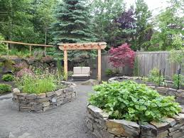 Courtyard Garden Ideas Small Stone Planter Box Ideas In Japanese Courtyard Garden