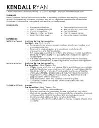 examples of customer service resume resume template and