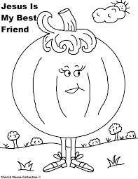 pumpkin coloring page for sunday kids jesus is my best