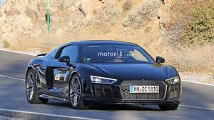 audi r8 audi r8 spied with massive oval exhaust tips