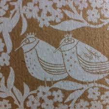 the royal birds hand printed greeting card by liz toole