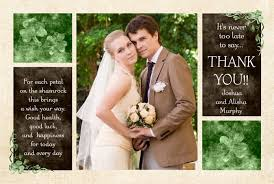 photo collage wedding thank you card keepsake classic