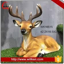 size resin animal standing outdoor deer figurines garden